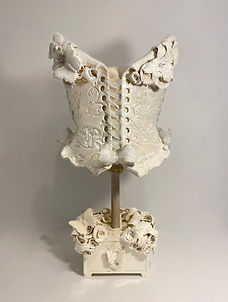 Pieridae wearable ceramic corset with clay stand
