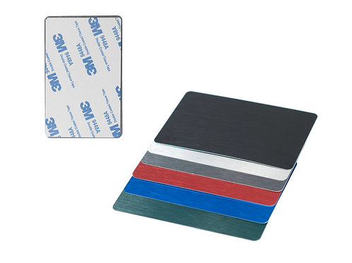 3M Adhesive Back Anodized Brushed Metal Business Card Blanks THICK 100ea