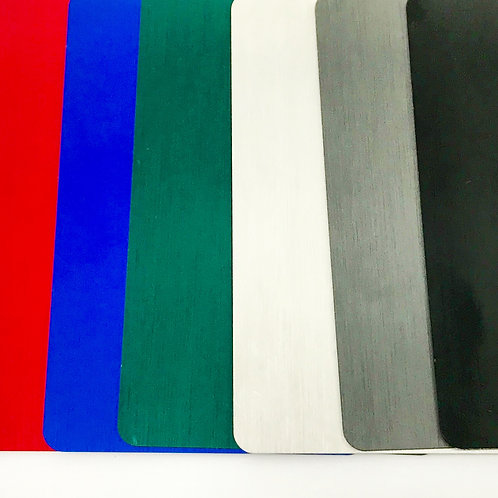 Anodized Brushed Metal Business Card Blanks THICK 50ea