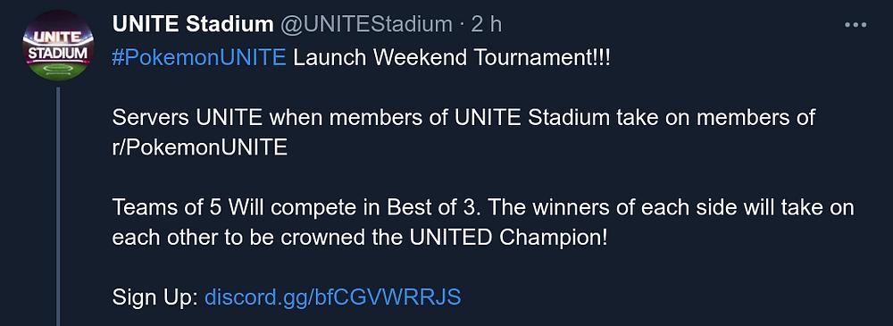 unite stadium pokemon unite torneio competitivo