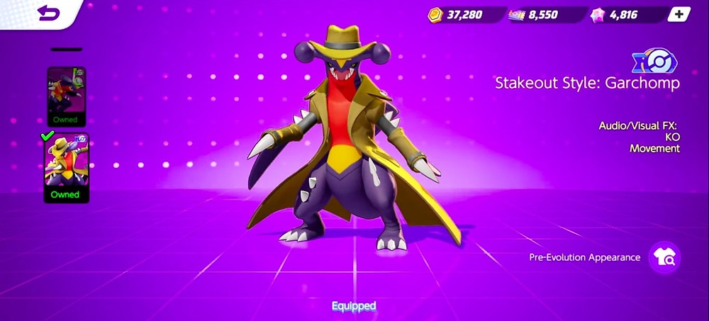 pokemon unite garchomp nova skin