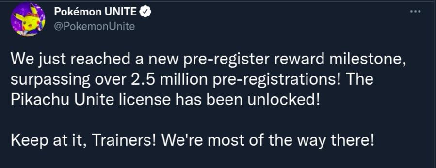 lançamento mobile pré-registro pokémon unite