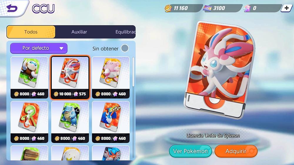 pokemon unite sylveon preço