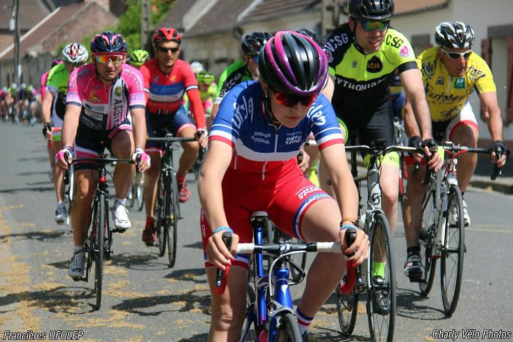 Pascal VERGES dans la roue de la Championne de France !