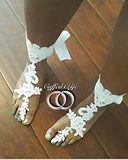 Bridal Barefoot Sandals perfect for a beach wedding