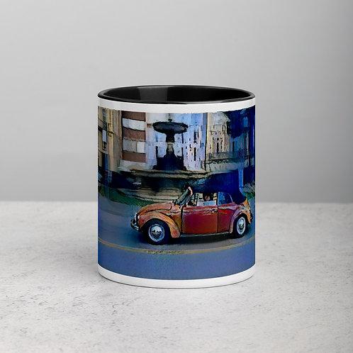 White Ceramic Mug with Color inside