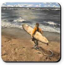 Achterbahn - Arbeitstag des Surfers