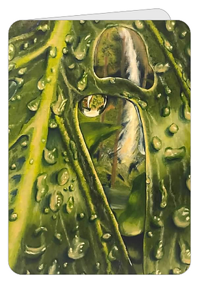 Greeting Card - Raindrops