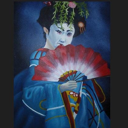 Retrato de geisha