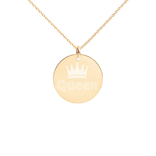 Queen Disc Necklace