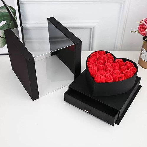 Cube Flower Box with Drawer