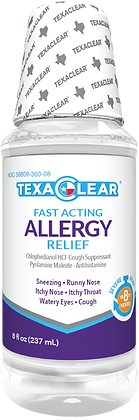 TexaClear® Allergy Relief Liquid 8oz