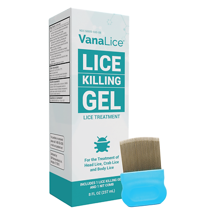 VanaLice Head Lice Gel and Nit Comb Kit