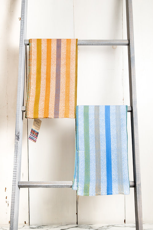 Twill & Basket Weave Striped Towel