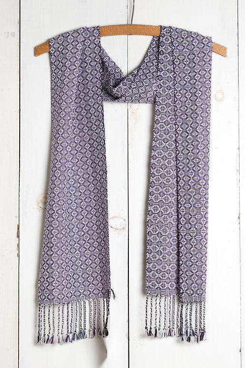 Bamboo Scarf in Shadow Weave