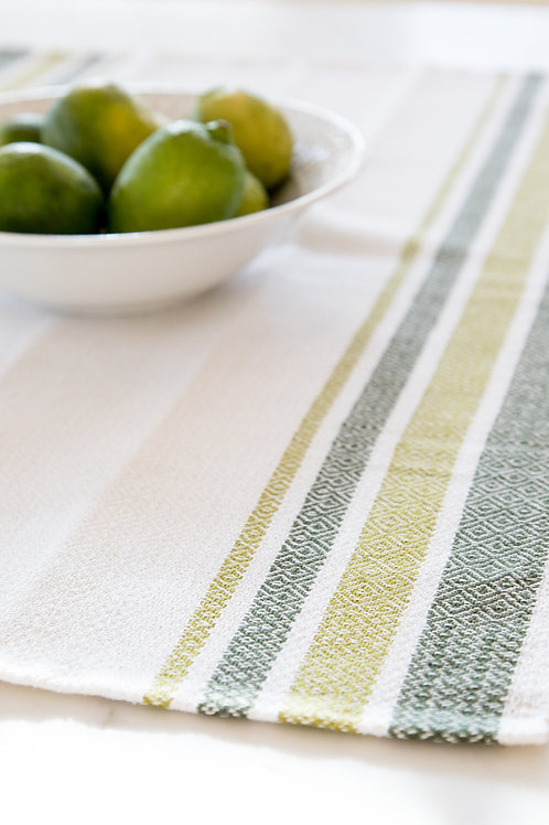 Point Twill Striped Table Runner