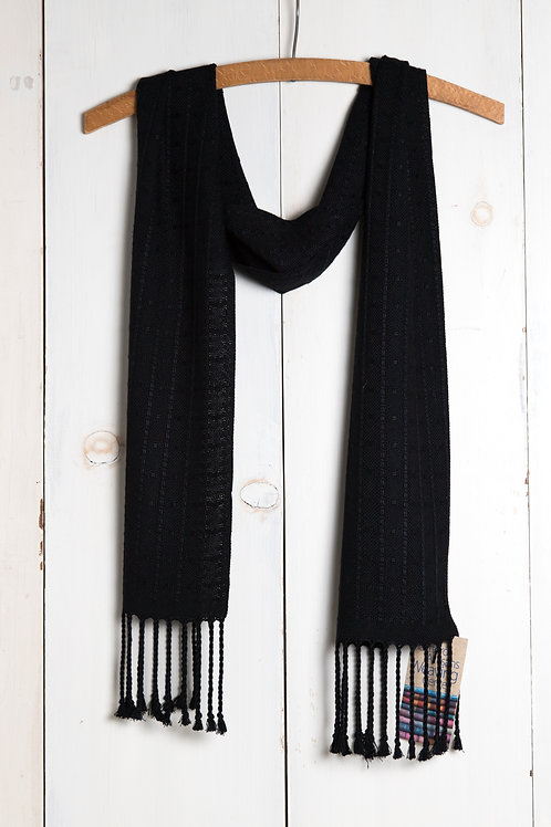 Elegant Black Bamboo Scarf