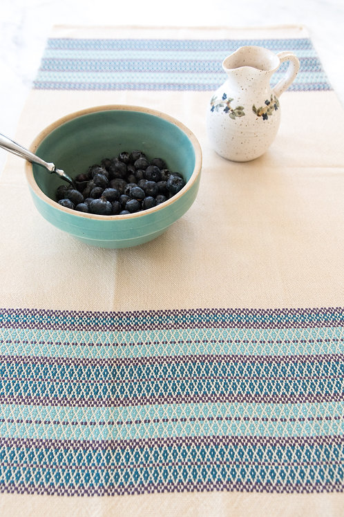 Table Runner with Wide Decorative Borders