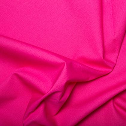 Popeline Couleur Unie Rose Cerise
