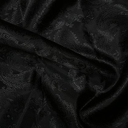 Doublure Jacquard Couleur Unie Noire