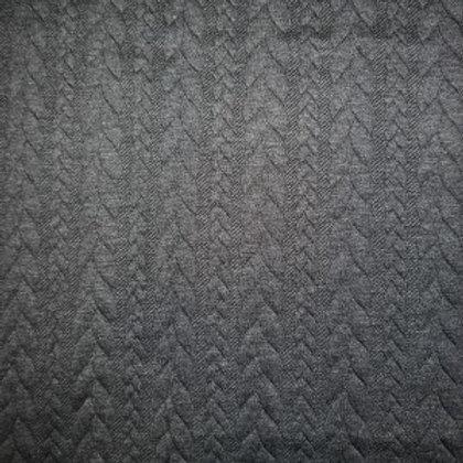 Jersey matelassé torsadé gris chiné