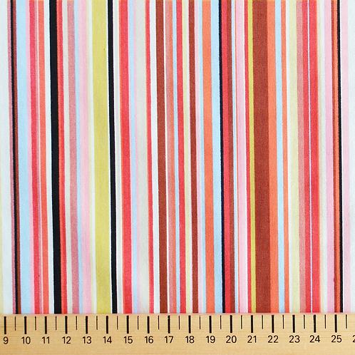 tissus matières popeline rayures multicouleurs 1 AAY e-commerce à Kerlouan en France