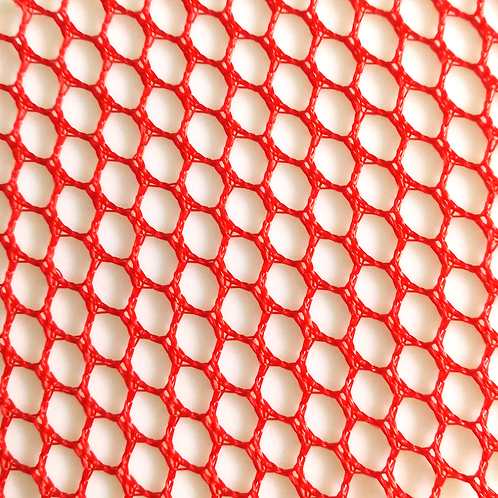 COUPON Tissu filet ou Mesh fabric orange