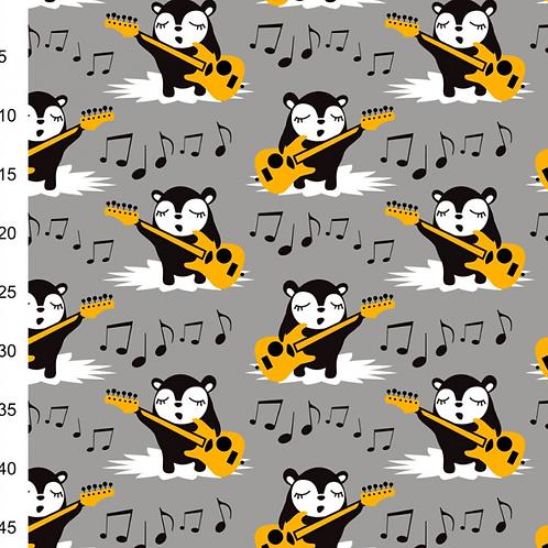 bio-tissus-sweat-ours-musicien-sur-gris-en-vente-aux-ateliers-d-yvonne-à-kerlouan