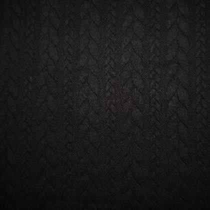Jersey matelassé torsadé noir