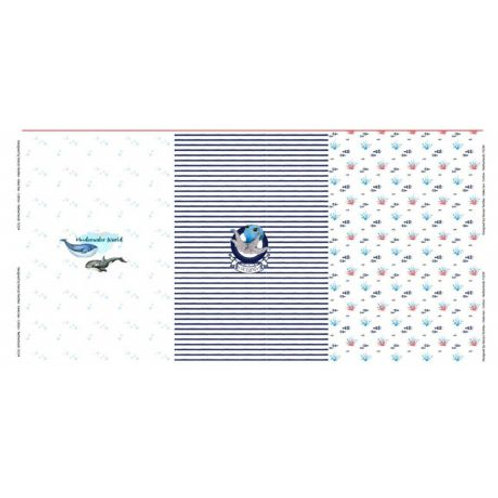 Panneau jersey Stenzo imprimé baleines