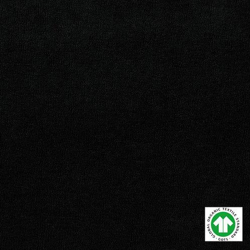 Tissu Éponge Bio Label GOTS Textile Uni Noir
