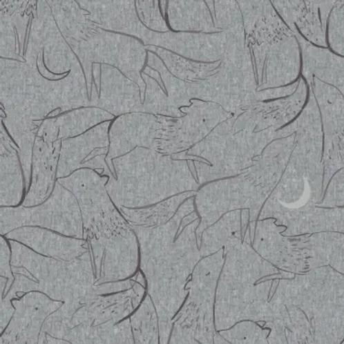 tissu-sweat-loups-hurlant-sur-textile-gris-mélangé-en-vente-à-kerlouan-aux-ateliers-dyvonne-.-com