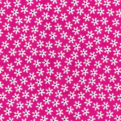 tissus matières la popeline cerise fleurs des champs aay e-commerce à Kerlouan en France
