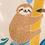 popeline-tissu-paresseux-des-tropiques-sur-fond-beige-4-en-vente-aux-ateliers-dyvonne-a-kerlouan