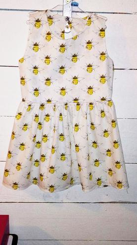 1 - robe Marie Nelly -popeline abeille -