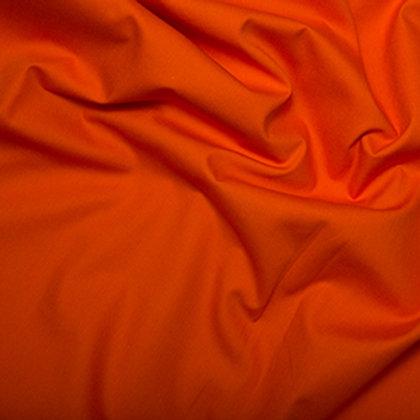 popeline couleur unie orange