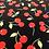 Thumbnail: Popeline de coton Cerises sur fond noir