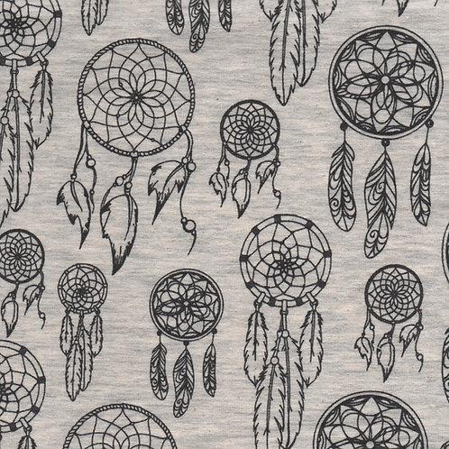 tissu jersey matière sweat design Aborigène marque Poppy AAY e-boutique à Kerlouan en France