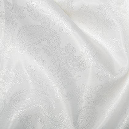 Doublure Jacquard Couleur Unie Blanc