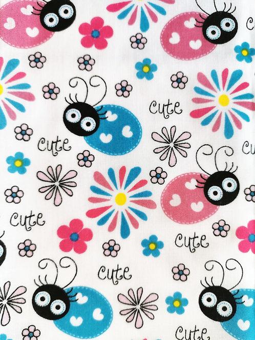 Tissu Polycoton Cute Coccinelles