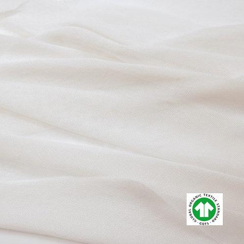 Tulle Tissu Bio Label GOTS Textile Blanc Uni