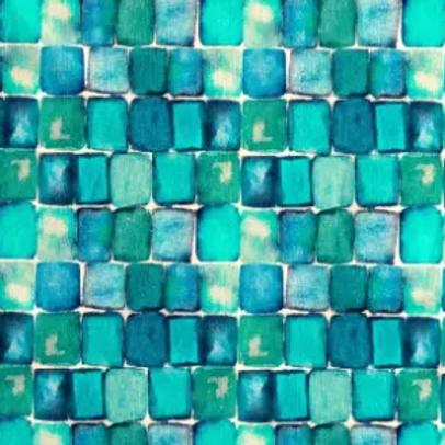 popeline-tissu-carreaux-bleu-piscine-tons-melanges-1-en-vente-aux-ateliers-dyvonne-a-kerlouan