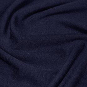 Jersey de coton Couleur unie bleu marine