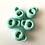 Thumbnail: Bloc cordon rond vert menthe