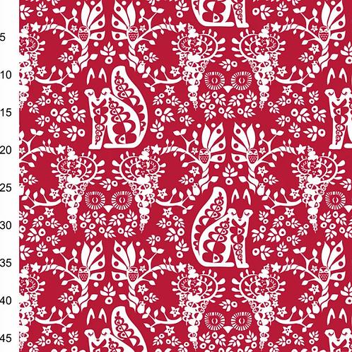 le-jersey-bio-renard-blanc-sur-tissu-rouge-tissu-en-vente-à-kerlouan-aux-ateliers-dyvonne