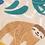 popeline-tissu-paresseux-des-tropiques-sur-fond-beige-2-en-vente-aux-ateliers-dyvonne-a-kerlouan
