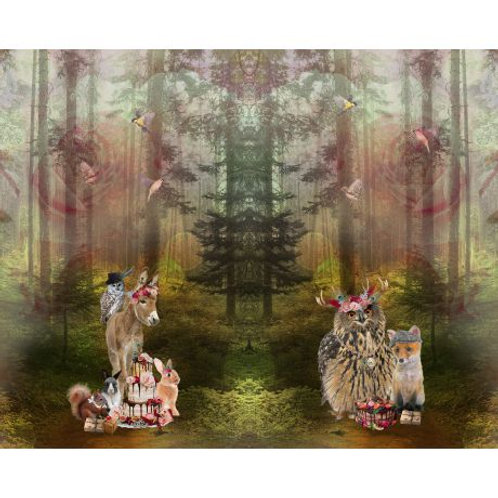 Panneau Tissu Jersey Stenzo animaux de la forêt