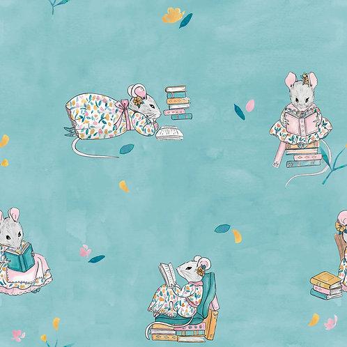 Popeline De Coton Petits Rats Lecteurs