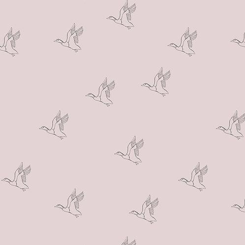 Tissu Mousseline Majestueuses Oies