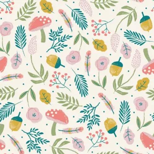 popeline-tissu-motif-forêt-textile-écru-en-vente-à-kerlouan-aux-ateliers-dyvonne